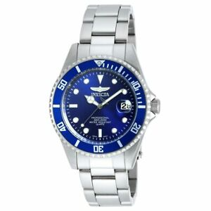 Invicta Men's Watch Pro Diver Blue Dial Quartz Dive Silver Tone Bracelet 9204OB
