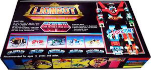 """Voltron Lionbot Mini-Size 8"""" Vintage 1985 ..5 Lions to Voltron Robot New! MIB!!"""
