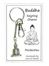 W009 - Carded Gift Buddha Key Ring Quality Double Sided Buddha - See Pictures