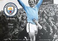 Man City v Everton Premier League programme Mint Condition +Team Sheet.