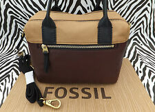 FOSSIL Handbag ERIN SATCHEL Brown Soft Leather Carry Shoulder Bag BNWT RP£169