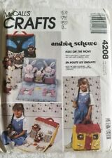 McCalls 4208 Bear Bunny Family Dolls Carry Along Doll House Sewing Pattern
