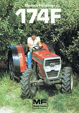▬►Prospectus Tracteur MASSEY FERGUSON MF 174 F  Prospect Tractor Traktor