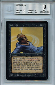 MTG Beta Drain Life BGS 9.0 (9) Mint Magic The Gathering WOTC 7125