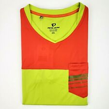 Pearl Izumi Divide Top 2XL Neon Yellow Orange Hi Visibility 19121701 New Nwt Xxl