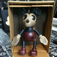 Mickey Mouse Marionette Figure Doll Wooden Young Epoch Retro Rare Used F/S