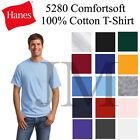 Hanes Comfortsoft 100% Cotton T-Shirt Sml-3XL Tee 5280