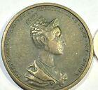 Austria 1836 Maria Anna Augusta Ferdinandi Prague Coronation Medal Cast Bronze