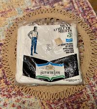 Nos Fruit Of The Loom Golden 70's 3- White Men's Athletic Shirt Tank Xl