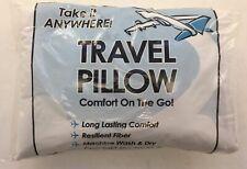 """Travel Pillow 14"""" x 9"""" White Free Shipping"""