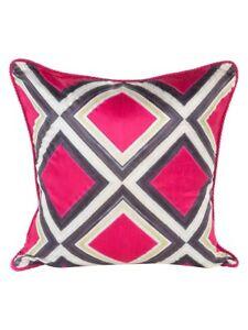 MacKenzie-Childs Mosaic Silk Pillow ~Fuchsia~ #75759-045F *NEW*