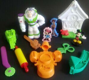 Play Doh Disney Lot Buzz Lightyear Mickey Mouse Set Lot Figures Play-Doh Dough