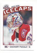 2015-16 St. John's IceCaps Update set Zachary Fucale (goalie)