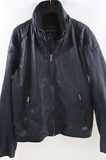 Diesel Black Leather Jacket Size XXL