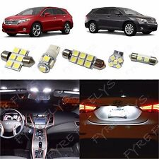 10x White LED lights interior package kit for 2009-2014 Toyota Venza TV1W