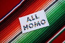 All Homo, Gay Pride, Embroidered Patch