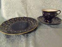 Lichte Porzellan Echt Kobalt - Kaffeegedeck 3teilig