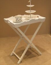 Large White Butlers Tray Table serving tray Lamp Table occasional table Chic