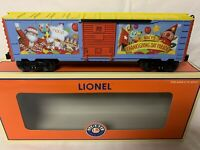 LIONEL MACY'S THANKSGIVING PARADE BOXCAR 6-25043 FOR O GAUGE TRAIN SET CHRISTMAS