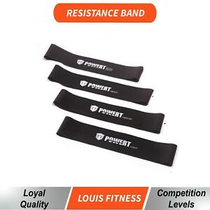 BLK Power Resistance Band Home GYM Exercise Workout Fitness Yoga Plates Loop POP