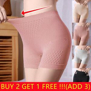 UK Women's Elastic Soft Anti Chafing Pants Safety Shorts Leggings Slim Underwear