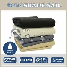 Waterproof Extra Heavy Duty Shade Sail 5m*7m Rectangle 280gsm Top Quality 280gsm Polyester Grey
