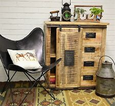 Country Timber Sideboard Cabinet Buffet Storage Retro Industrial Vintage Rustic