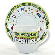 Mary Engelbreit Count Your Blessings 7oz Cup & Saucer Set Time For Tea