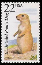 Us 2325 North American Wildlife Black-tailed Prairie Dog 22c single Mnh 1987