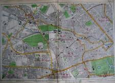 London Kensington Notting Hill St Johns legno LORDS larga scala Mappa Bacon c1928