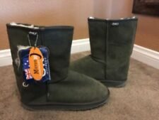 """Emu Australia Women's """"Bronte"""" Low Boots Olive Green Size 7 or 8.....Brand New"""