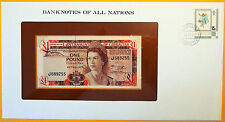 Gibraltar 1975 - 1 Pound - Uncirculated Banknote enclosed in stamped envelope.