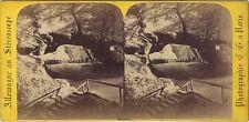 Allemagne Schandau Saxe Stéréo Charles Gaudin Paris Vintage albumine ca 1865