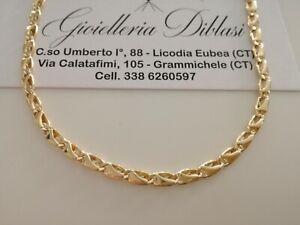 GOLD HALSKETTE Herren Damen 18 Karat 750% Massiv Kette GELBGOLD Collier Italien