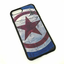 for iPhone 7+ Plus - Hard TPU Rubber Case Cover Blue Red Captain America Shield