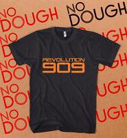 Revolution 909 BLACK T-Shirt XS S M L XL 2XL 3XL Roland Daft Punk DJ House Music