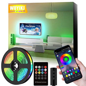 LED Strip Light, 5M16.4ft RGB Colour Changing Lighting Strip with Remote and APP