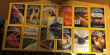 13 Issues National Geographic Magazine 2001 2003 2004 2005 Maps