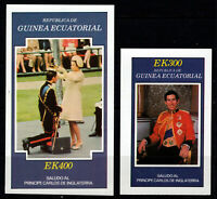 Equatorial Guinea - Two Imperf Souvenir Sheets Honoring Prince Philip  -  MNH