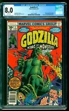 Godzilla 1 CGC 8.0 VF Nick Fury Dum Dum Dugan app Herb Trimpe cover Marvel 1977