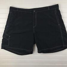 Cannondale black womens active shorts size XXL 2XL nylon E47