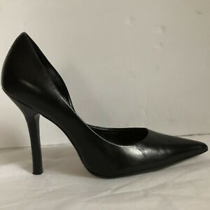 Guess by Marciano Carrie Black Leather High Heel Pointy Toe Pumps Size 6