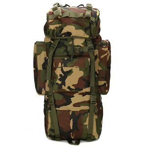 Military Tactical Backpack Camouflage Rucksack Hiking Camping Outdoor Bag 65 L