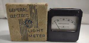 Vintage Antique 1935 GE General Electric LG Carter Light Meter Foot-candles