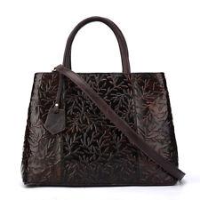 Women's Bag Genuine Leather Retro Handbags Shoulder High capacity Embossed