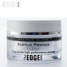 The EDGE NAILS 8g Premium Blend CLEAR ACRYLIC POWDER Fast Setting Self Levelling