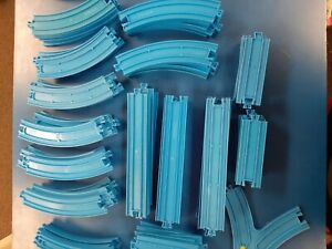 Thomas the Tank Engine Tomy Blue Track Lot of 81 Pcs Switch Curved Straight