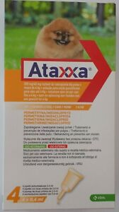 Pack 4 Ataxxa small dog less 4kg (less 9lb) - 4 pipettes Spot on