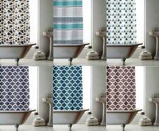 Shower Curtain with Ring Hooks 180cm x 180cm Stripe Spots Splash Modern Bathroom