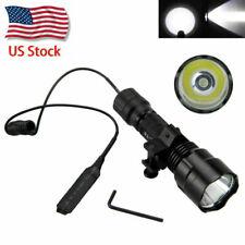 US 5000lm T6 LED White Hunting Flashlight Torch Light Rifle Gun Rail Mount Lamp
